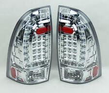 Toyota Tacoma 05-14 LED Rear Tail Lights Chrome Clear Pair RH LH
