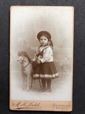 Netherland Victorian Carte De Visite CDV Named Family KRUYSSE: Ride On Toy Horse