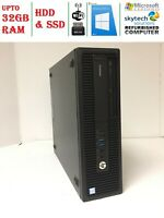 HP EliteDesk 800 G2 SFF Core i7-6700 6th Gen 3.4Ghz 32GB SSD&HDD Windows 10 Pro