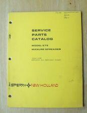 New Holland Model 679 Manure Spreader Service Parts Catalog Manual