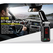 Bluetooth Car Kit Handsfree MP3 Player FM Transmitter USB Charger AUX Upgraded