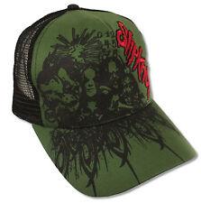 "SLIPKNOT ""COLLAGE"" OLIVE GREEN & BLACK TRUCKER CAP HAT NEW OFFICIAL SNAPBACK OS"