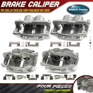 Right Front Brake Calipers With Bracket For GMC Yukon Dodge Ram 1 Pair Left