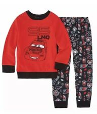 Nwt Boys Size 4 Cars 2 Piece Fleece Top Pajama Pants