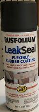 New Rust-Oleum LeakSeal Leak Seal Flexible Rubber Coating BLACK 12 Oz