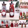 Christmas Santa Wine Bottle Cover Bag Holder Xmas Dinner Table Party Decor Gift