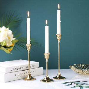 Nostalgia Retro Iron Candlestick Ornament Brass Candelabra Elegant Wedding Decor