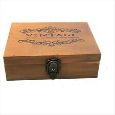 Wooden Vintage Look Jewellery Ornaments Tea Bags Satchels Storage Box Container