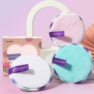 3Pcs Makeup Remover Pads Microfiber Reusable Face Towels Cotton Pads Cloth Q0P6