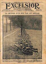 Bois d'Ypres Tommies British Machine gun Mitrailleuse Flandres Belgium WWI 1914