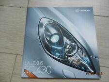 Catalogue LEXUS SC 430 Septembre 2006