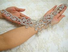 Gorgeous Rhinestone Bridal Applique Sweet Heart Motif Beaded Wedding Applique