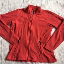 Helly Hansen Large Fleece Pink Jacket Mock Neck Coral Comfort Zip Up Fitness