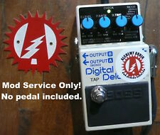 Mod Service Only (No Pedal) Boss DD-7 Digital Delay Internal Tap Tempo mod