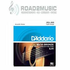 1 Satz Daddario EJ-11 Light 12-53 Bronze Akustik Gitarre Saiten