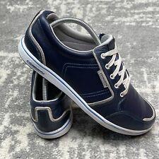 New listing Ashworth Men's Spikeless Street Golf Shoes Size 9 Blue White Walking Comfort