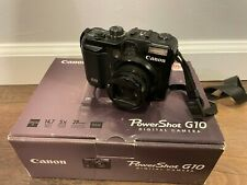 Canon PowerShot G10 Digital Camera with Box, Battery, Charger and 2GB SD CARD