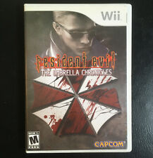 Resident Evil: The Umbrella Chronicles (Nintendo Wii, 2007) Complete w/ Manual