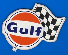 1960-70/'S ORIGINAL GULF RACING GASOLINE OIL DECAL STICKER TEXAS Gas Station Race