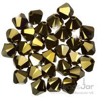 6mm Swarovski 5818 Half Drilled Crystal Pearls Mystic Black Pack of 4 K56//4