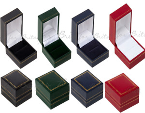 Ring Box Leatherette Ring Boxes RED, GREEN, BLACK, BLUE ,