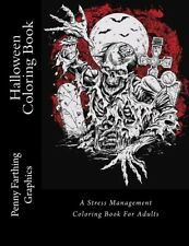 Halloween Coloring A Stress Management Coloring Book (Adult)(Cover Varies)
