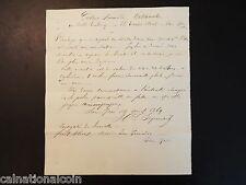 1869 Gustave Bomnaro Watchmaker handwritten letter San Jose, El Salvador