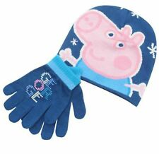 Peppa Pig George Blue Infants 2 piece Hat & Gloves Set - Brand New with Tags