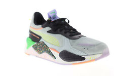 Puma RS-X FD 36983801 Mens Gray Suede Lace Up Low Top Sneakers Shoes