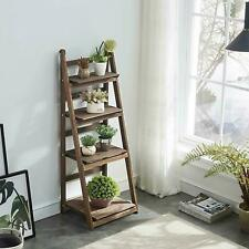 4-Tier Ladder Shelf Bookshelf Bookcase Storage Display  Home Office Foldable