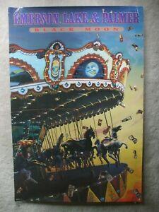 Emerson Lake & Palmer promo poster 1992 Black Moon Victory Records Keith Greg