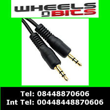 1.2m Short 3.5mm Mini STEREO Jack to Jack Aux Cable Lead PC Car GOLD 1m Metre