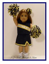 Navy & Gold Cheerleader Set fits American Girl Doll
