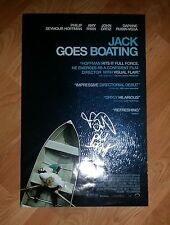 PHILLIP SEYMOUR HOFFMAN & JOHN ORTIZ 'JACK GOES BOATING' SIGNED MOVIE POSTER