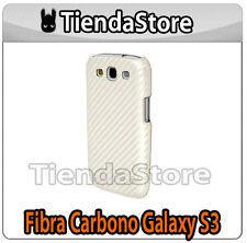 Funda Carcasa compatible samsung GALAXY S3 FIBRA DE CARBONO BLANCA