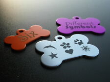 Aluminium Bone tags for Pets with Personalised Engraving, Dog, Cat, Pet, Tag!