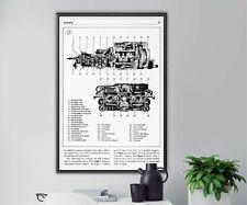"Volkswagen Type 3 ENGINE POSTER! (up to 24"" x 36"") - VW - Pancake - Karmann Ghia"