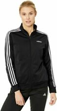 adidas FRV01 Women's Track Jacket, Size L - Black/White