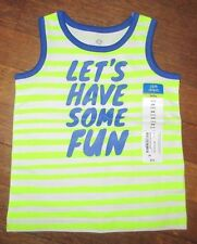 """Baby Infant Boy TANK TOP Shirt NWT """"Let's Have Some Fun"""" Sz. 6 months"""