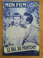 MON FILM N°309 1952 Le bal du printemps D Day G mac Rae dos Gina Lollobrigida