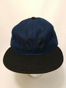 Baldwin Kansas City Rare KC Hat Blue with Black Bill Leather Strapback