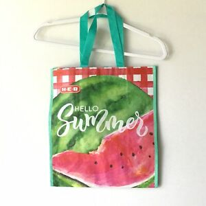 HEB Hello Sunshine Shopping Tote Reusable Eco Bag Watermelon Sandia Picnic