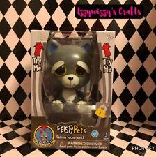 "Feisty Pets SAMMY SUCKERPUNCH Gray Cat Kitty New Boxed Cute Push Button 4"""