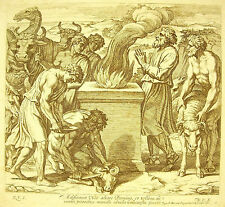 Noé bâtit un autel à l'Eternel La Bible Nicola Chaperon 1649 ap Raphaël Vatican