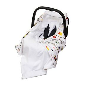 **New Baby Wrap For Car Seat / Car Seat Blanket - white / colourful arrows