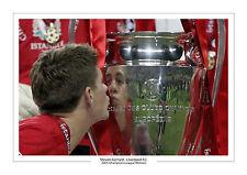 Steven Gerrard CHAMPIONS LEAGUE 2005 FINALE LIVERPOOL A4 stampa foto TROFEO 3