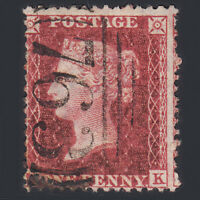 D11 GB QV 1857 1d DEEP ROSE-RED (SG41) FU SWANSEA (763)