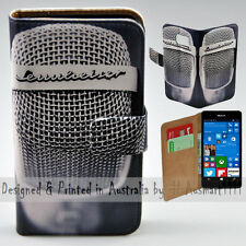 Wallet Phone Case Flip Cover ONLY for Nokia Lumia 950 - Vintage Steel Mesh Mic