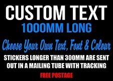 Custom Sticker Decal 1000mm Vinyl Cut Made Text Lettering Personalised Car Word