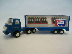 Vintage Rare PEPSI Cyrillic Tin Toy Truck with Trailer 70s